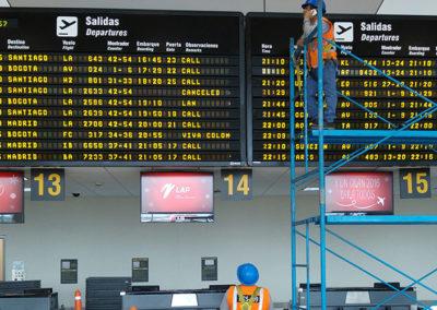 Mantenimiento del sistema de información al público en Aeropuerto Jorge Chavez – LAP S.R.L.
